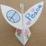 3rd grade student's JPC peacedove artwork